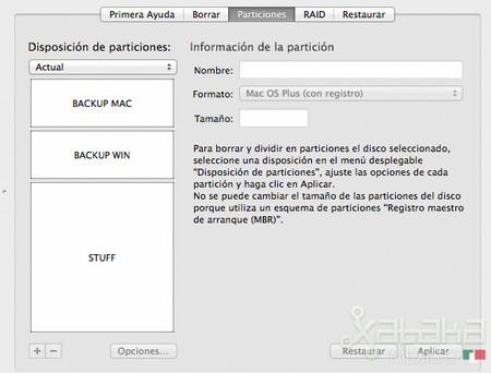 Cómo particionar un disco duro desde Mac fácilmente