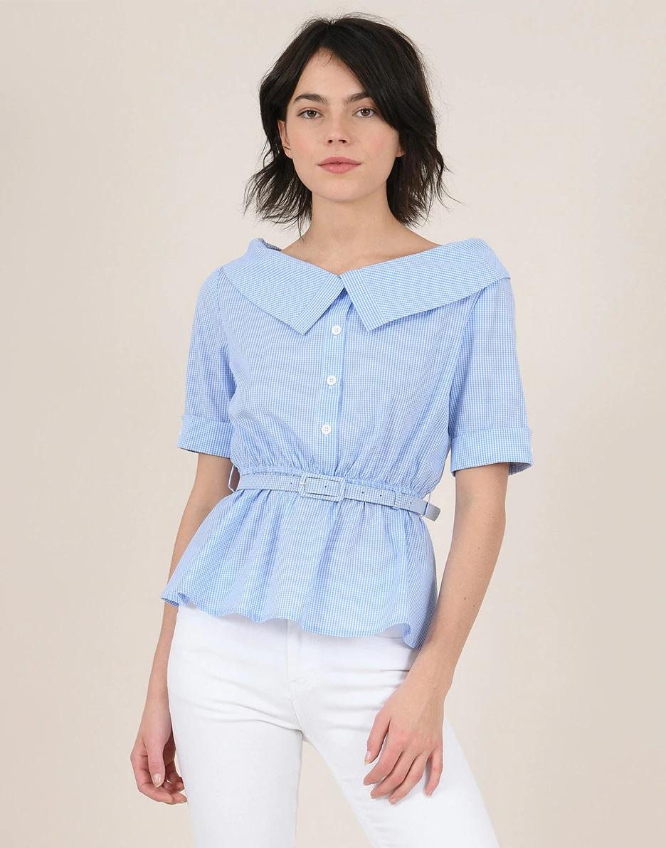 Camisa con escote de barco de Lili Sidonio