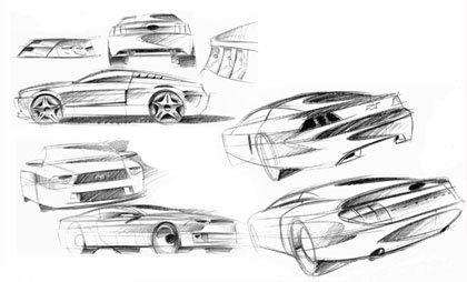 Los bocetos del Mustang