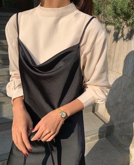 Vestido Lencero Negro 11