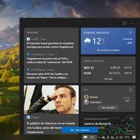 El nuevo feed de tiempo y noticias llega a Windows 10 October 2020 Update con la última compilación del Programa Insider