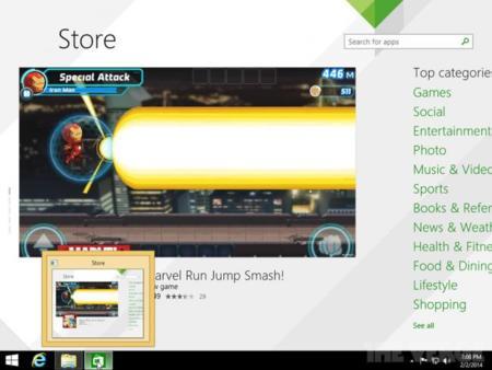 Ejemplo de aplicación Modern UI desde el Escritorio