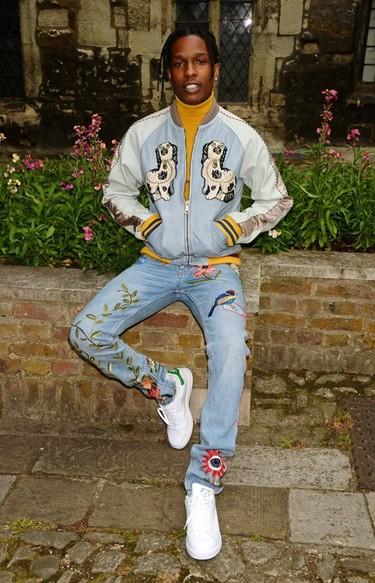 A$AP Rocky fue uno de los que no quisieron perderse el Gucci Cruise 2017 de Alessandro Michele en Westminster
