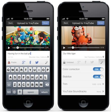 Capture: aplicación iOS para grabar, editar y compartir vídeos en YouTube