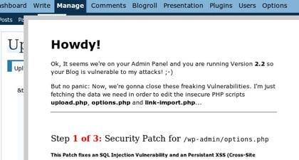 Un gusano que parchea vulnerabilidades de Wordpress