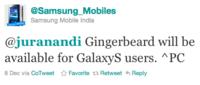 Las familias Samsung Galaxy S y LG Optimus se actualizarán a Android 2.3