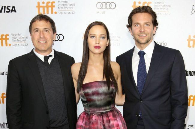 David O. Russell, Jennifer Lawrence y Bradley Cooper