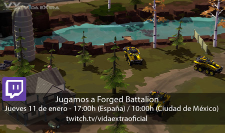 Streaming de Forged Battalion a las 17:00h (las 10:00h en CDMX)