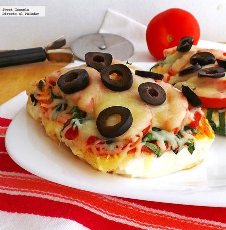 Pizza con base de tofu. Receta