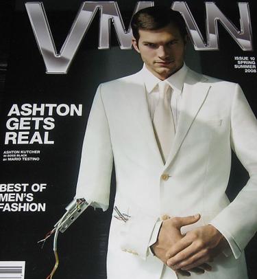 Mario Testino le hace un chequeo a Ashton Kutcher