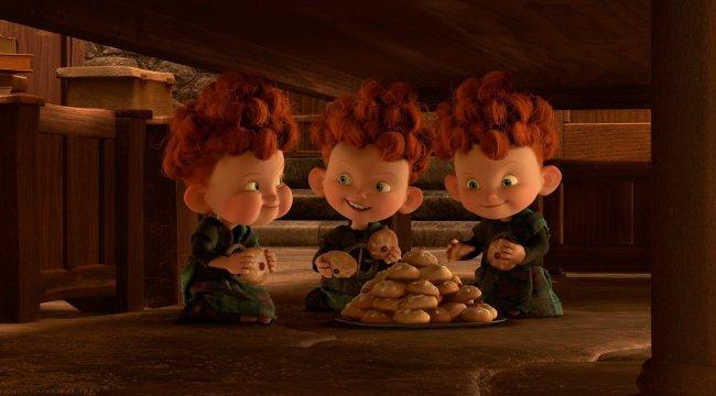 Los hermanos de Merida en 'Brave (Indomable)'