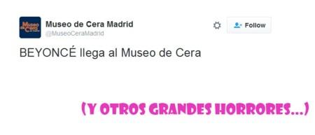 Beyoncé (o así) se  une al Museo de Cera de Madrid (junto a otros horrores)