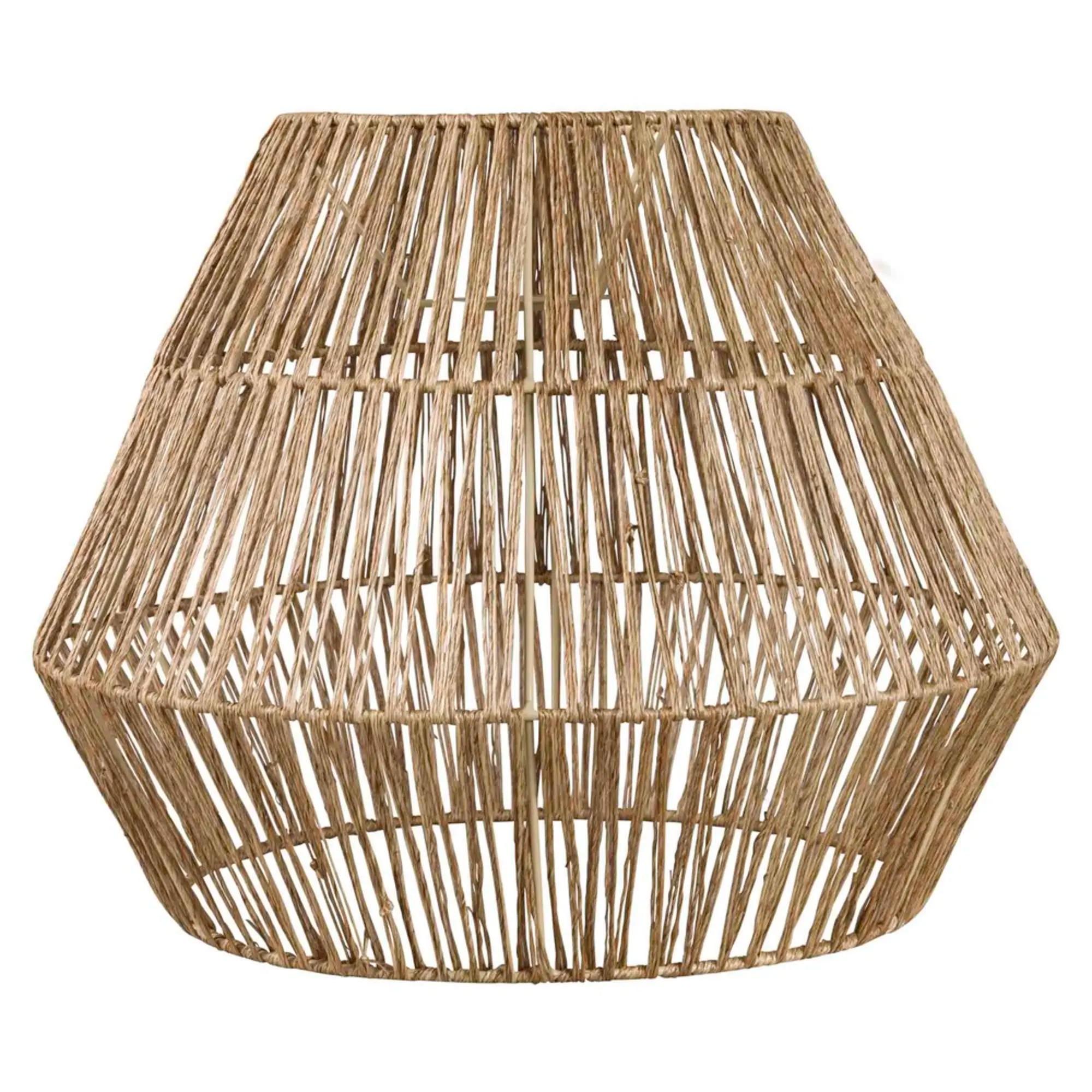 INIRIDA .- Pantalla para lámpara de techo de fibra vegetal D.40 cms