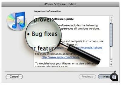 Nueva actualización del firmware del iPhone, versión 2.0.2