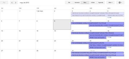 Calendario de competiciones internacional y nacional, 10 al 12 de mayo