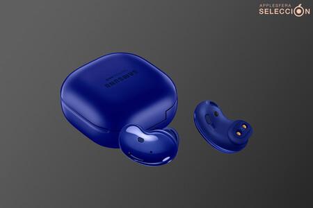 Los auriculares sin cables de curioso diseño Samsung Galaxy Buds Live en color azul están de oferta en Amazon a 99 euros