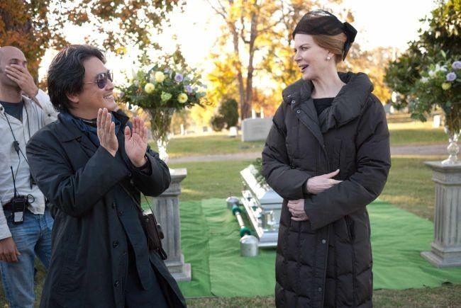 Park Chan-wook y Nicole Kidman durante el rodaje de Stoker