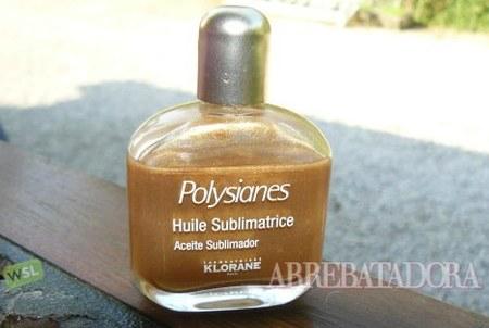 Aceite dorado para embellecer el moreno y el cabello