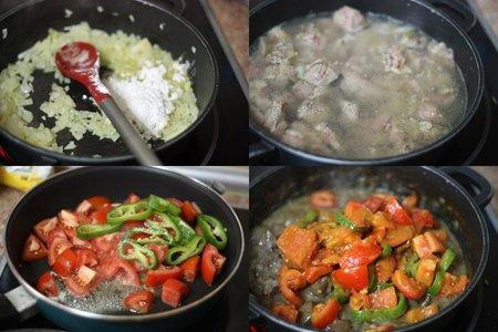 Curry de carne con tomate. Pasos