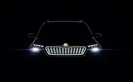 El Škoda Vision X se asoma en un primer teaser y será un híbrido a todo gas