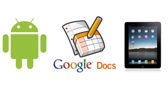 Google Docs en Android e iPad