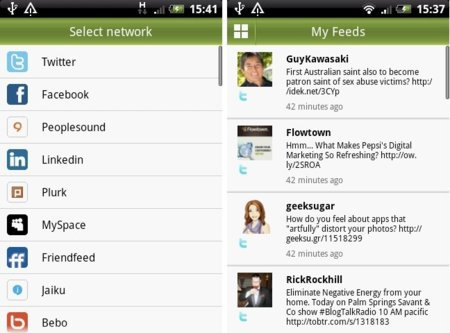 Hellotxt llega a Android, todas la redes sociales en una sóla aplicación
