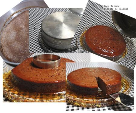 Flan de chocolate oscuro con caramelo picante agtc cmda