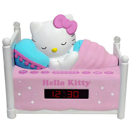 Radio reloj de Hello Kitty