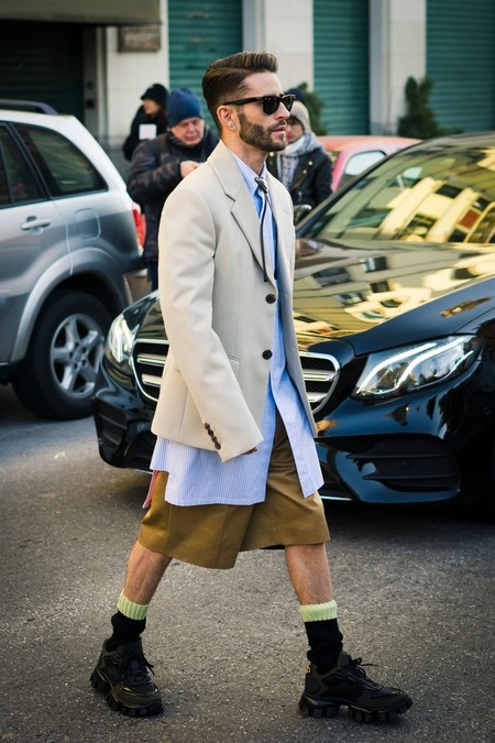 Prince Pelayo Diaz Short Ancho Pantalon Corto Trendencias Hombre Street Style 11