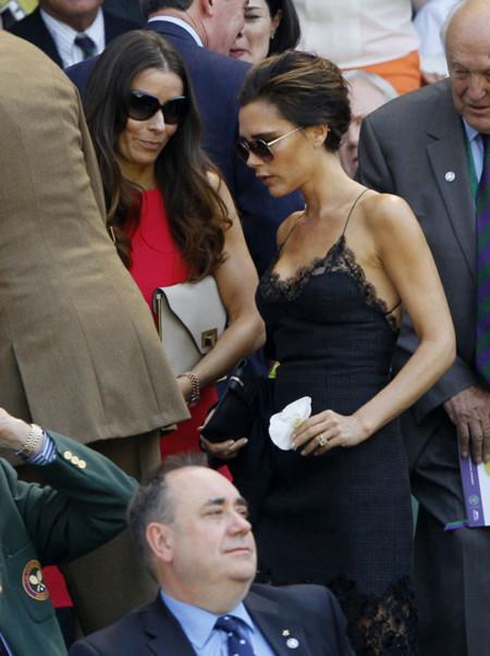 Victoria Beckham muy sexy en Wimbledon