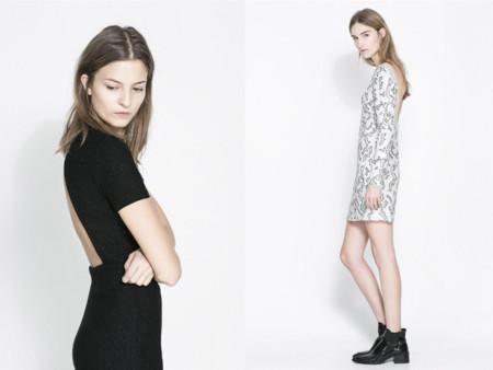 Vestido escote espalda Navidad 2013 Zara brillos