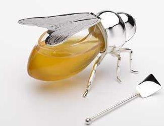 Silver Honey Bee, bonito envase para servir la miel