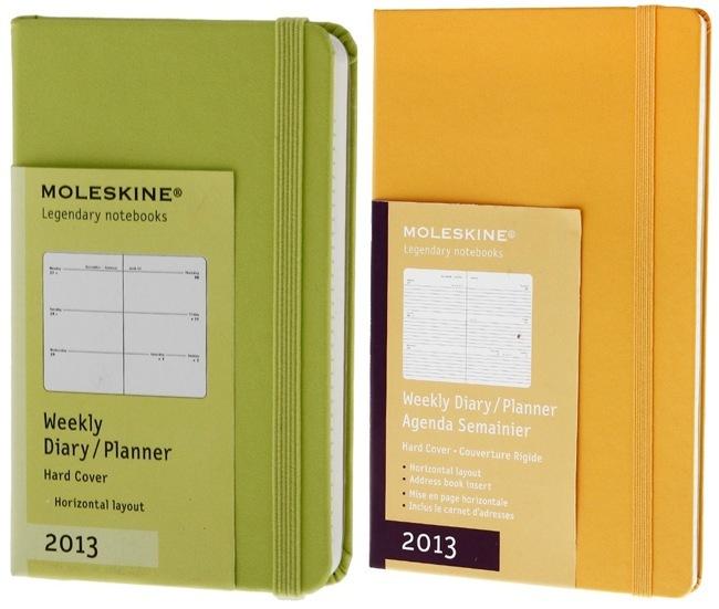 Agendas Moleskine 2013 en nuevos colores