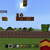 Un jugador de Minecraft recrea el nivel 1-1 del Super Mario Bros. original a escala gigantesca