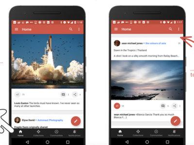 Google+ 7.1, ahora con scroll automático y menos errores