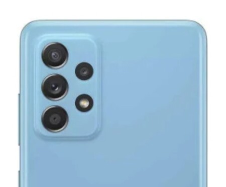 La espalda del Galaxy A52