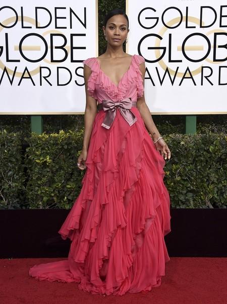 Zoe Saldana Gucci Globos De Oro