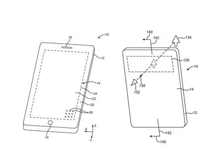 Apple patenta un dispositivo con altavoces debajo de la pantalla  y una ventana de realidad aumentada