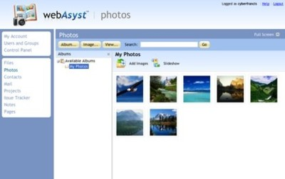 WebAsyst, suite online de herramientas para usuarios y grupos