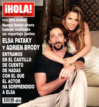 Elsa Pataky y Adrien Brody en Hola