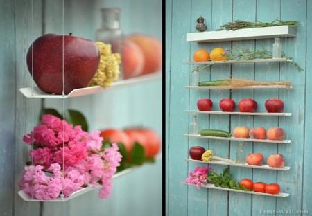 Una coqueta estantería para guardar la fruta