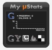 My µStats, widget que muestra los valores de nuestro espacio web en diferentes servicios