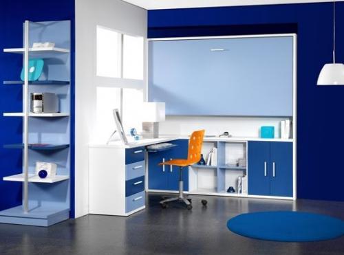 Soluciones para dormitorios juveniles en avant haus - Habitacion juvenil azul ...
