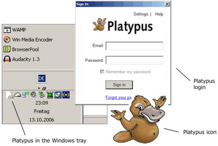 Platypus, el cliente de Gdrive, de uso interno sólamente