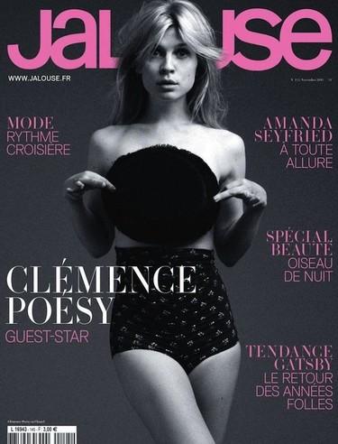 Clémence Poésy muestra sus encantos en el nuevo número de Jalouse