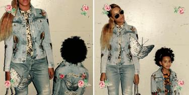 Alessandro Michele regala a Blue Ivy y a su mamá la misma chupa vaquera de Gucci para que vayan iguales