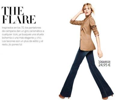 pantalon campana H&M