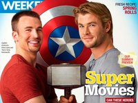 Duelo de superhéroes buenorros: Chris Hemsworth Vs Chris Evans