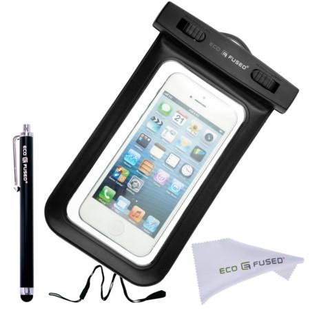70b16ab0a6e ... ¿y si en vez de una funda o carcasa, utilizamos una simple bolsa que se  cierra herméticamente y con un film que nos permite usar la pantalla del  iPhone ...