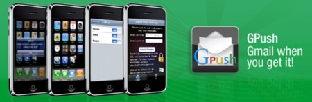 Gmail con push en el iPhone  a través de Gpush